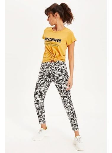 DeFacto Zebra Desenli Super Skinny Fit Chino Pantolon Siyah